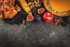 Thanksgiving dayvoedsel Stock Foto's