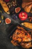 Thanksgiving dayvoedsel Royalty-vrije Stock Foto's