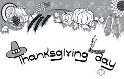 Thanksgiving decoration royalty free stock photos