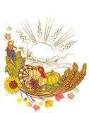 Thanksgiving decoration Stock Photos