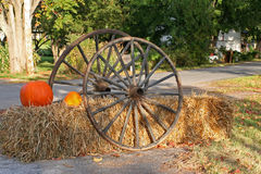 Thanksgiving decoration. Along Kings Road - Quebec, Canada Stock Image