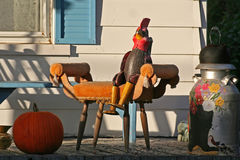 Thanksgiving decoration. Along Kings Road - Quebec, Canada Royalty Free Stock Photography