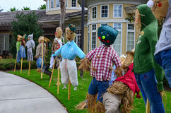 The thanksgiving decoration - several straw thanksgiving dolls Stock Photo