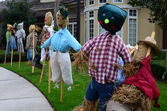 The thanksgiving decoration - several straw thanksgiving dolls. Stock Image