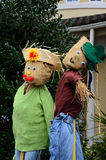 The thanksgiving decoration - two straw thanksgiving dolls. Royalty Free Stock Photos