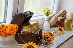 Thanksgiving decoration. Stock Photos