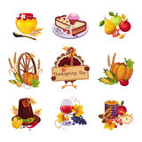 Thanksgiving Decorative Elements. Vector royalty free illustration