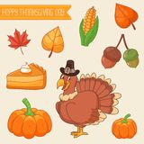 Thanksgiving design elements collection Stock Images