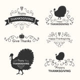 Thanksgiving Design Elements Royalty Free Stock Photography