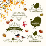 Thanksgiving Design Elements Stock Photos