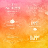 Thanksgiving Design Elements Royalty Free Stock Photos
