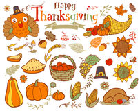 Thanksgiving design elements Stock Image
