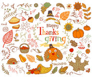 Thanksgiving design elements Royalty Free Stock Photo