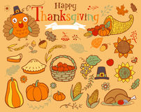 Thanksgiving design elements Stock Image