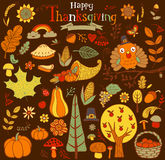 Thanksgiving design elements Stock Images