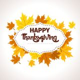 Thanksgiving Design- Thanksgivings Day Vector Art Royalty Free Stock Photos