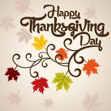 Thanksgiving Design- Thanksgivings Day Vector Art Royalty Free Stock Photography
