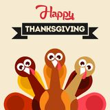 Thanksgiving Design- Thanksgivings Day Vector Art Stock Images