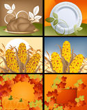 Thanksgiving Designs. Set of Thanksgiving deigns and backgrounds vector illustration
