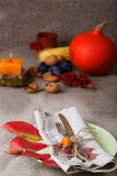 Thanksgiving dining place Royalty Free Stock Photo