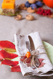Thanksgiving dining place Royalty Free Stock Image
