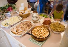 Thanksgiving dinner 1 Stock Photography