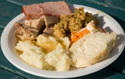 Thanksgiving dinner 3 Royalty Free Stock Photo