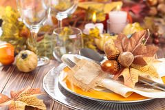Thanksgiving dinner decoration. Royalty Free Stock Image