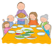 Thanksgiving Dinner Stock Photography