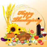Thanksgiving dinner illustration background Stock Image