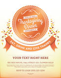 Thanksgiving Dinner Invitation Template Royalty Free Stock Image