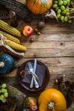 Thanksgiving dinner setting. Autumn dinner table Stock Image