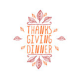 Thanksgiving dinner - typographic element Stock Image