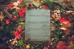 Thanksgiving dinner on wood Stock Image