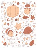 Thanksgiving Doodle Stock Image