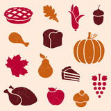 Thanksgiving Elements. Illustration of Stylized Thanksgiving Elements Stock Photos