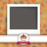 Thanksgiving Emblem Banner Turkey Instant Photo Stock Images
