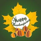 Thanksgiving ethnic maple leaf pumpkin doodle Stock Photo