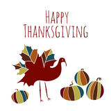 Thanksgiving ethnic maple turkey pumpkin doodle Royalty Free Stock Images