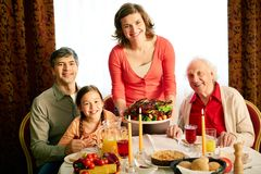 Thanksgiving evening Royalty Free Stock Photography