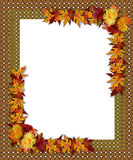 Thanksgiving Fall Autumn Border vector illustration