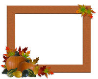 Thanksgiving Fall Autumn Frame Burlap Royalty Free Stock Photography