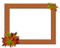 Thanksgiving Fall Autumn Frame Burlap Stock Photography