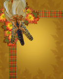 Thanksgiving fall border Royalty Free Stock Photo