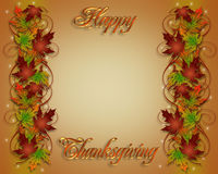 Thanksgiving Fall Border 3D Royalty Free Stock Images