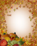 Thanksgiving Fall Border Stock Image