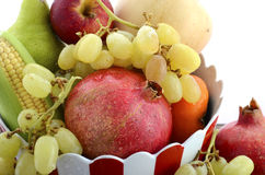 Thanksgiving fall harvest fruit and vegetables. Stock Photo