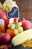 Thanksgiving fall harvest fruit and vegetables. Stock Images