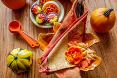 Thanksgiving place setting table Royalty Free Stock Photo