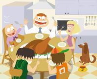 Thanksgiving family Royalty Free Stock Photo